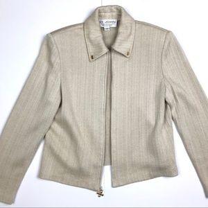 St. John Collection Knit Zip Up Blazer 4